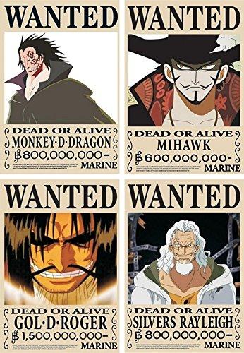Finex® * Juego de 18 - 29 Pcs * One Piece Piratas Wanted ...