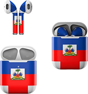 product image for Skin Decals for Apple AirPods - Haiti Flag - Sticker Wrap Fits 1st and 2nd Generation