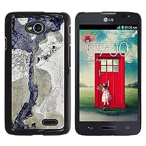 Be Good Phone Accessory // Dura Cáscara cubierta Protectora Caso Carcasa Funda de Protección para LG Optimus L70 / LS620 / D325 / MS323 // Spots Blotches Pastel Blue Beige