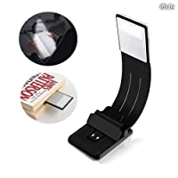 Lámpara de escritorio, Gloriz Libro luz LED Lampara de Lectura 4 Brillo Ajustable, Clip Luz de Lectura Noche Lampara de Lectura con Brazo Flexible (Negro)