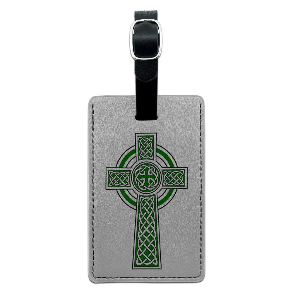 Graphics & More Celtic Christian Cross-Irish Ireland Scotland Scottish-Green White, Black by Graphics and More (Image #1)