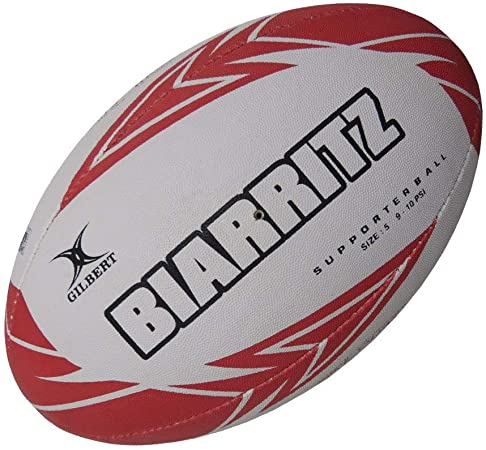 GILBERT Biarritz Pelota de rugby réplica mediana: Amazon.es ...