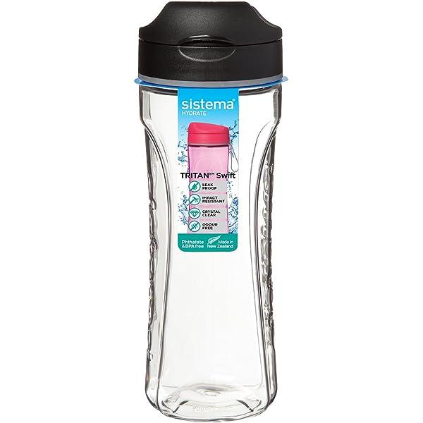 Set 6 SISTEMA Water bottle Polypropylene Trio 0.70 lt