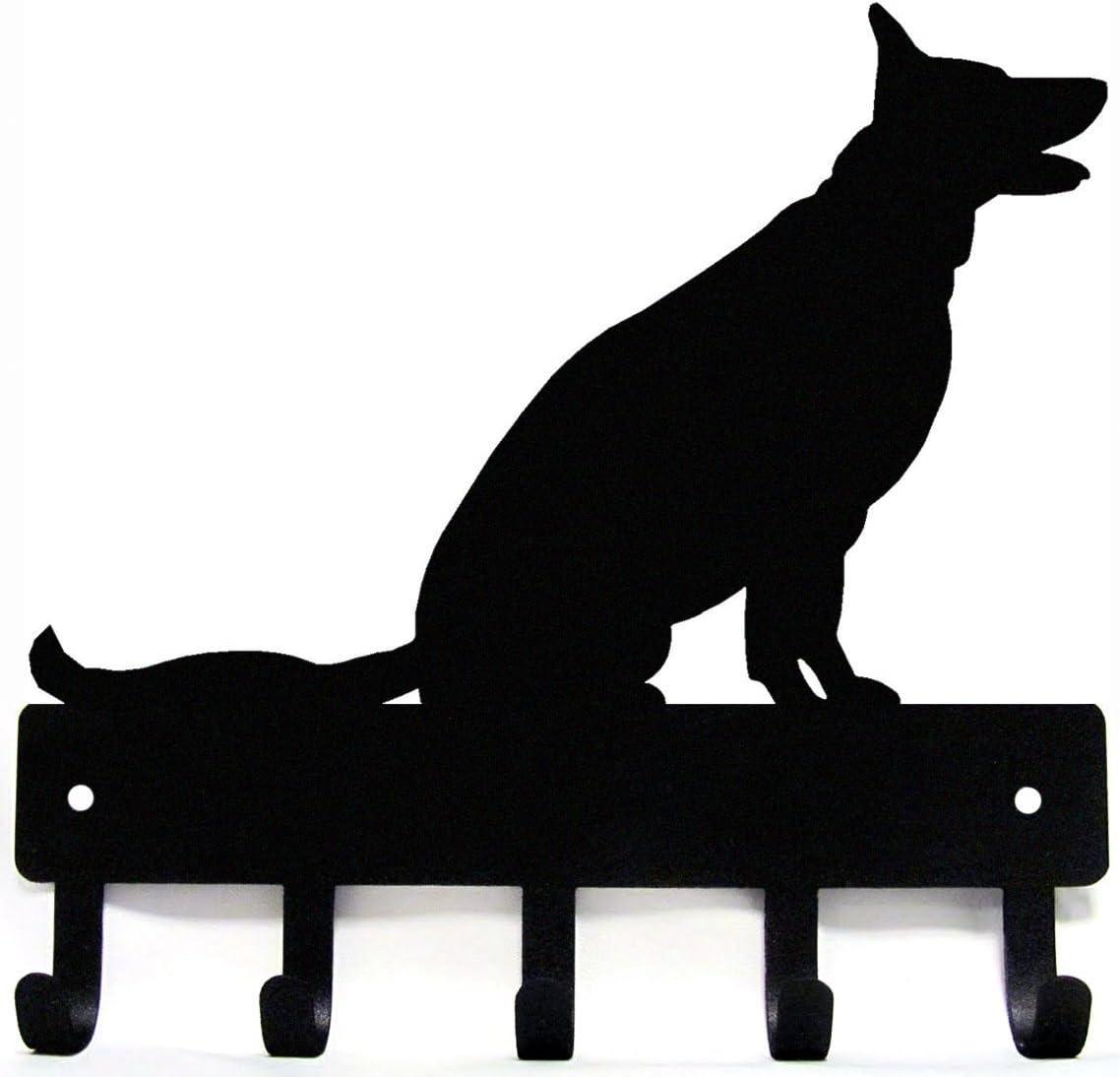 Amazon Com German Shepherd Sitting Key Rack Dog Leash Hanger Large 9 Inch Home Kitchen