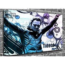 "Dj Tiesto Music Canvas Art Canvas Print Print Print Picture Size: (60"" x 40"")"