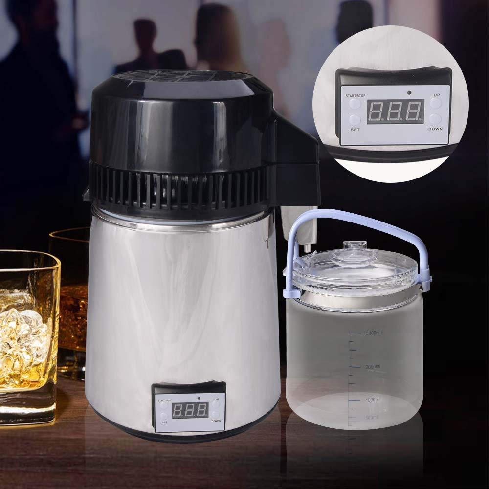 4L/1Gal Alcohol Distiller Moonshine Still Kit - Water Distiller with Connection Bottle Home Brew Wine Making Kit by Seeutek