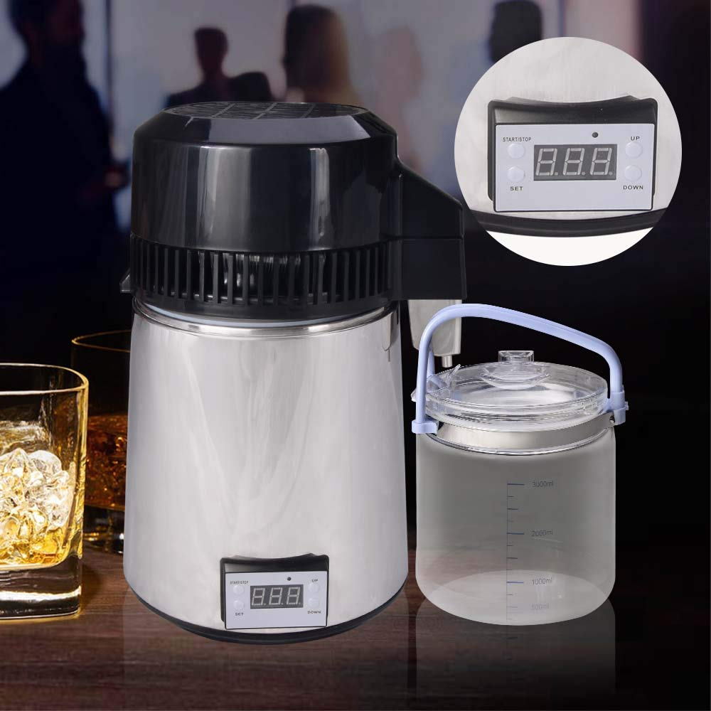 4L/1Gal Alcohol Distiller Moonshine Still Kit - Water Distiller with Connection Bottle Home Brew Wine Making Kit by Seeutek (Image #8)
