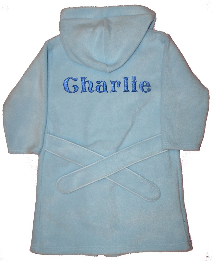 Mickey Mouse Luxury Personalised Super soft Fleece Dressing gown/Bath robe. (1-2)