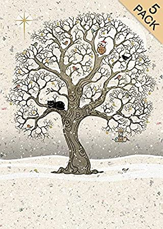 Artistic Christmas Cards Ba0199 Christmas Oak Pack Of 5