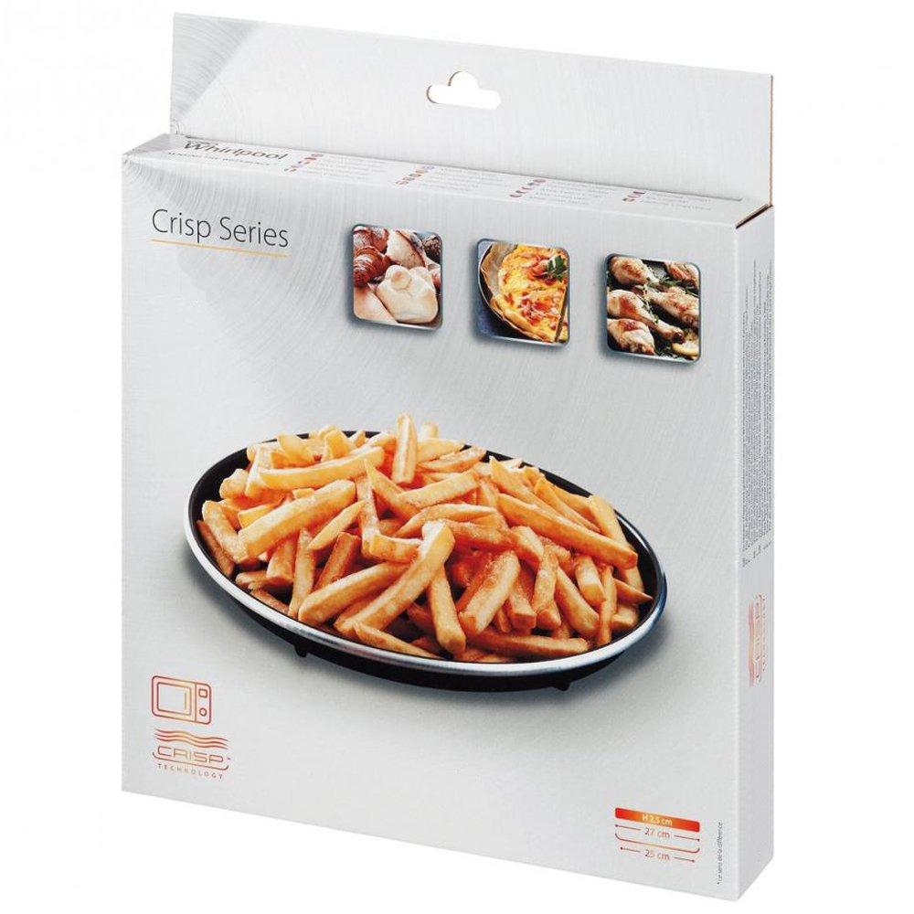 SPARES2GO Ferrite Crisper Plate for Whirlpool Crisp Function Microwave Ovens (250mm)