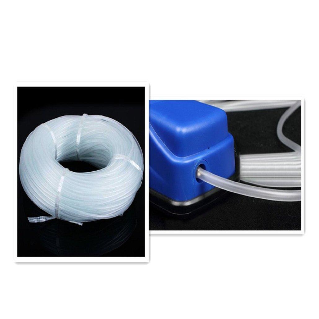 4×6MM Soft Silicone Oxygen Pump Hose for Air Bubble Stone Aquarium Fish Tank Pond Pump,Tuscom (3M)