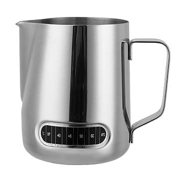 Jarra de acero inoxidable para leche de café con termómetro ...