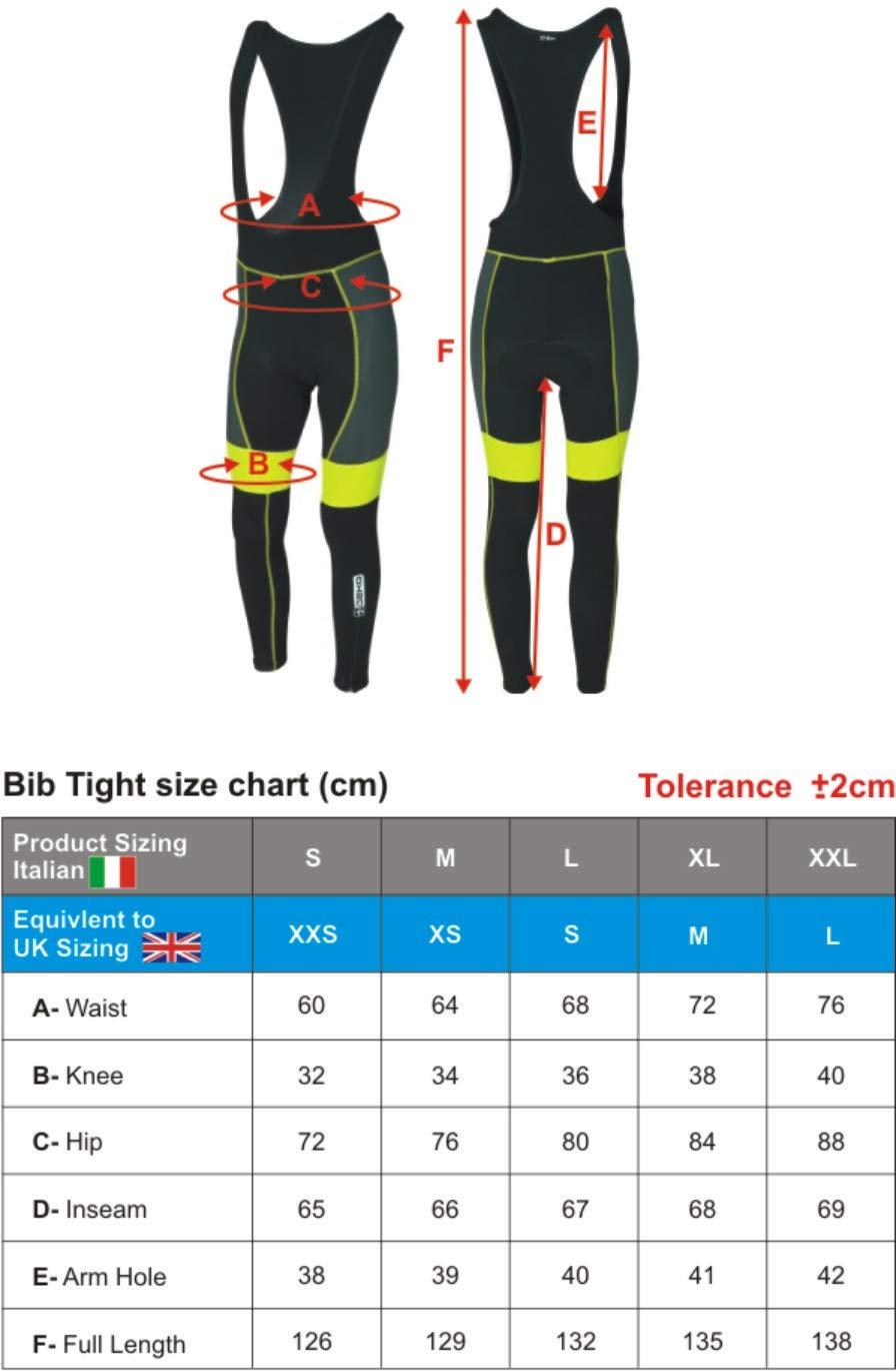 DEKO Mens Pro Cycling Bib Tights Winter Thermal Gel Padded Bicycle Leggings Long Pants Cycling Trouser Cycling Tights