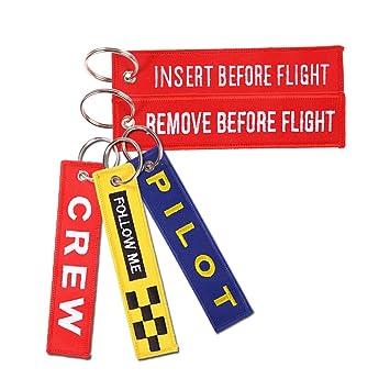Quitar antes de vuelo llavero Aviación etiqueta Multi-pack ...
