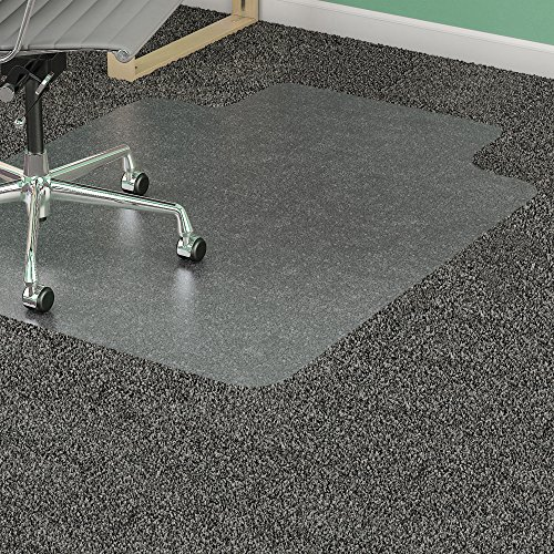 Lorell 36 by 48-Inch Standard Antistatic Chair Mat, 20 by 12-Inch Lip, - Static Anti Diamond Chair Mats