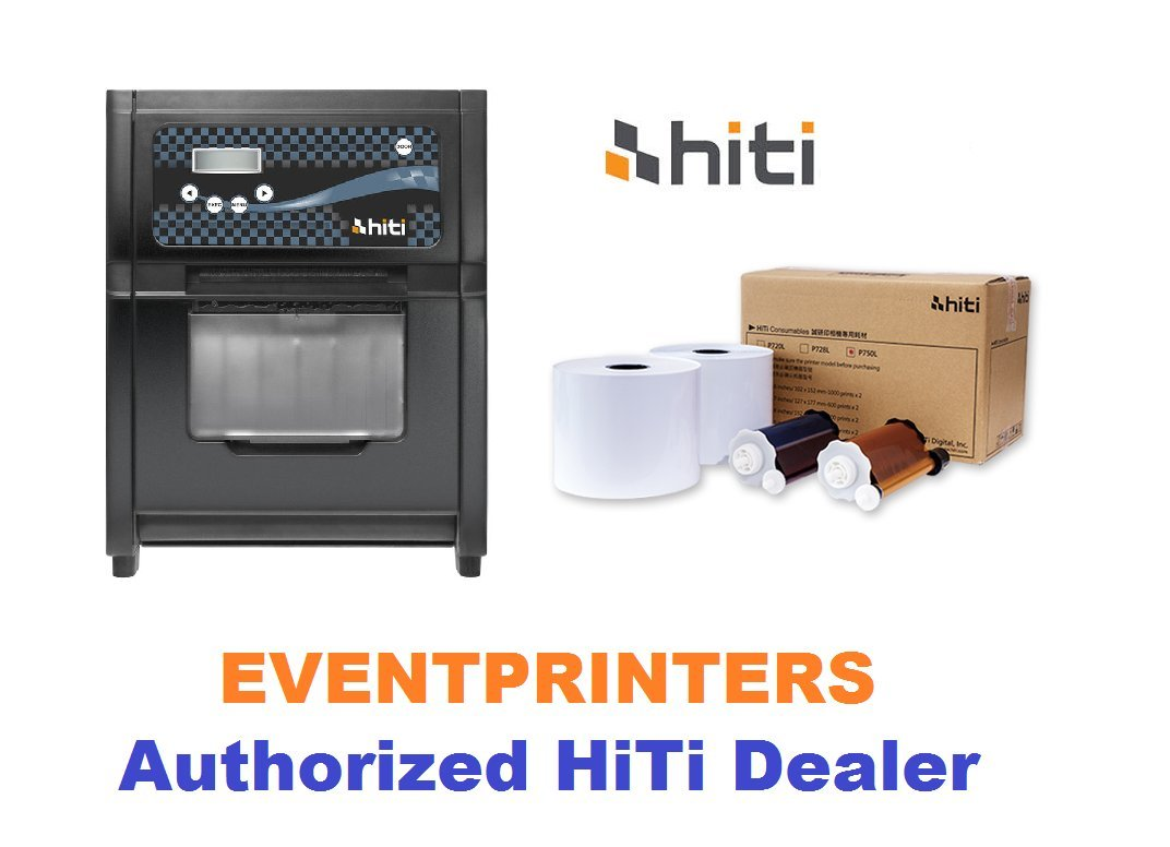 Hiti P750L Photo Printer - BUNDLE - with one box of 4x6'' media paper & ribbon (total of 2000 prints). High volume photo printer. This is the Hiti new printer that replaces the Hiti P720L.