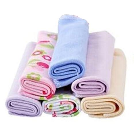 Juego de 8 toallas de bebé para niños recién nacidos, toalla de baño para niña, paño de limpieza, muy suave ...