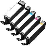 1 Set of 5 Inkfirst Ink Cartridges PGI-250XL CLI-251XL PGI-250 CLI-251 Compatible Remanufactured for Canon PIXMA MG6320 MG6400 MG6420 MG6620 MG7120 PGI-250PGBK CLI-251BK CLI-251C CLI-251M CLI-251Y XL