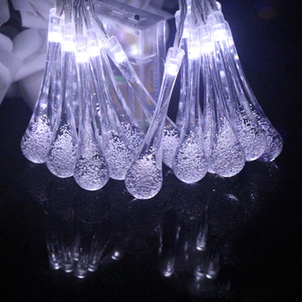 Garten Party Dekor Hochzeit S-TROUBLE 20FT 30LED Wassertropfen Solar Lichterketten f/ür Haus