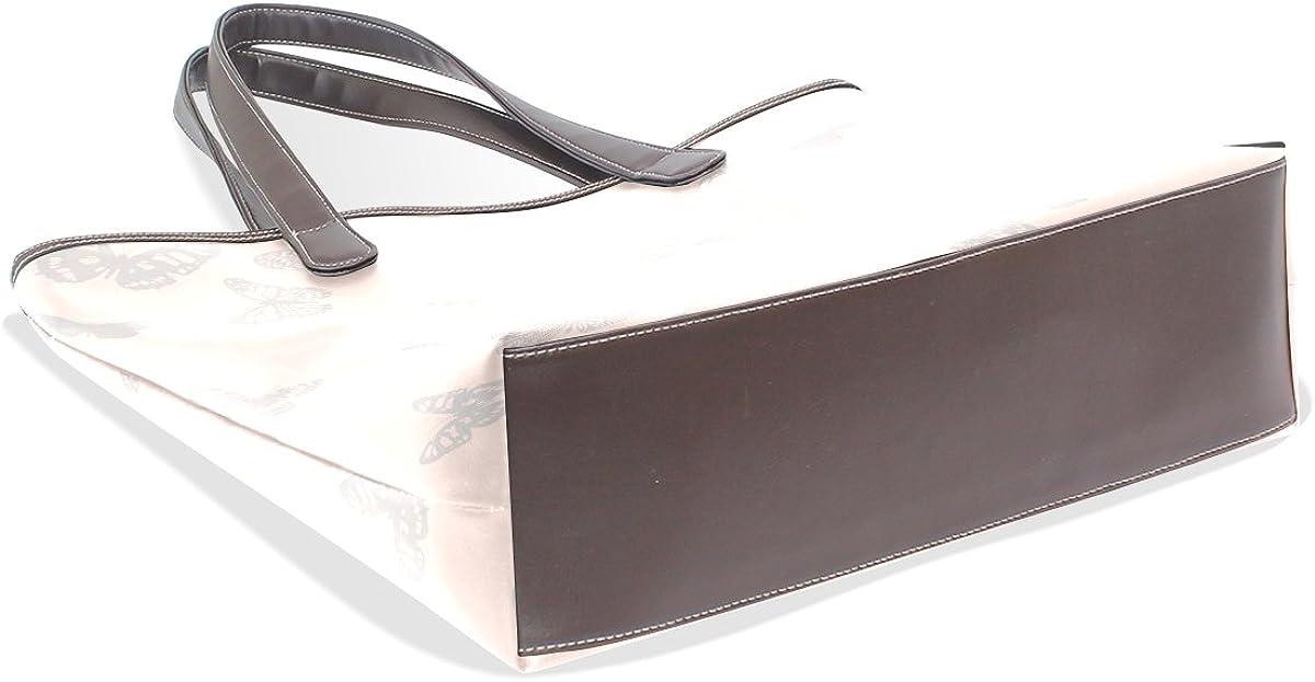 Sunlome Classic Butterflies Handbags For Women Girls PU Leather Shoulder Tote Bag