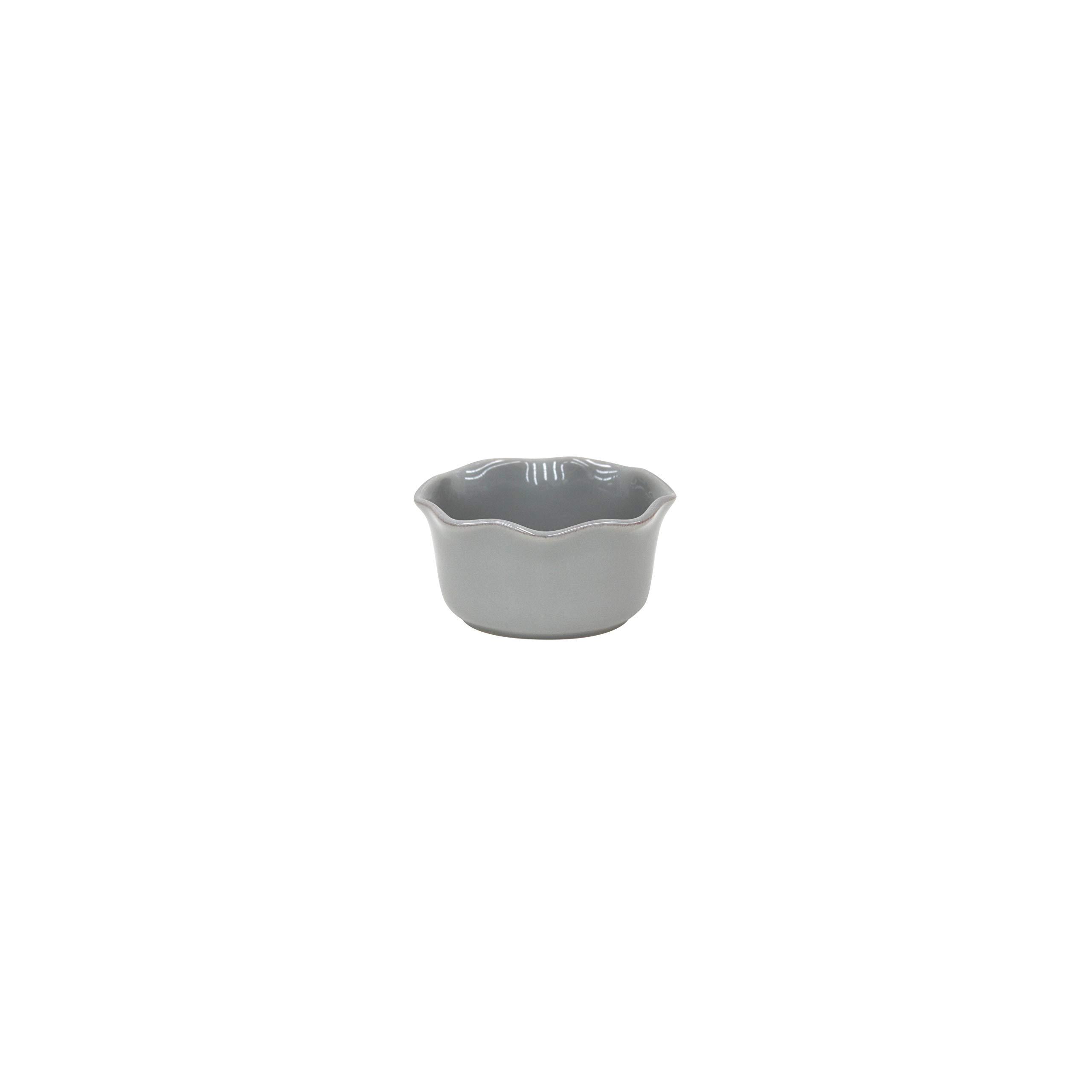 Casafina Cook & Host Collection Stoneware Ceramic Ruffled Ramekin 4.5'' (Set 4), Grey by Casafina (Image #1)