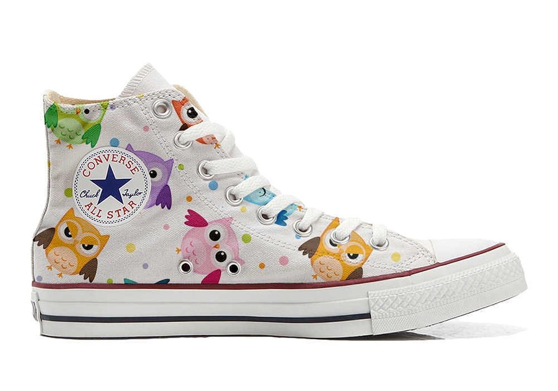 Converse Custom - personalisierte Schuhe (Handwerk Produkt) Tiny Owls  40 EU