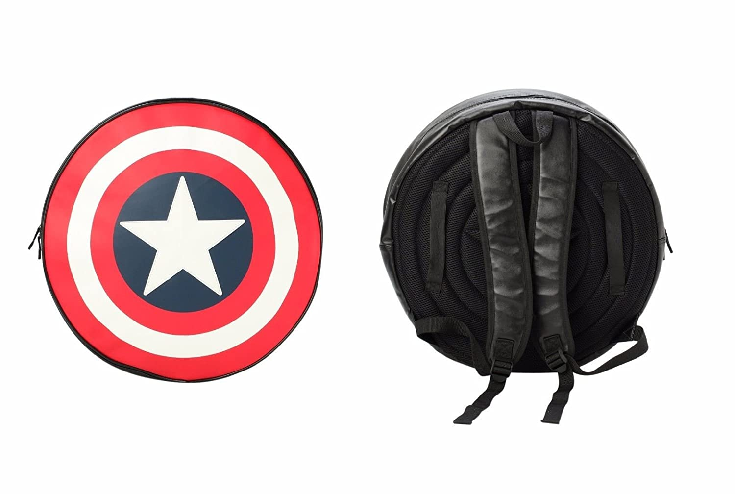 Marvel Comics Captain America Black Backpack/Shield