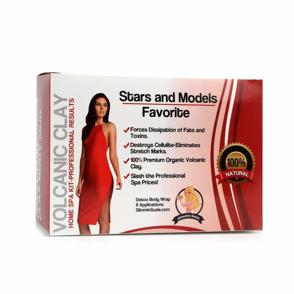 Cutting Edge Bargains Detox Spa Grade Volcanic Clay Body Wrap Home Professional Kit