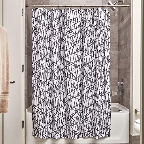 InterDesign Abstract Fabric Shower Curtain for Master, Guest, Kids', College Dorm Bathroom, 72