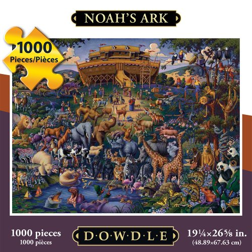 Jigsaw Puzzle - Noah's Ark1000 Pc By Dowdle Folk Art