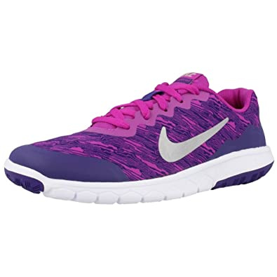 best sneakers b3cc5 6e06d Nike Girls  Flex Experience 4 Print (GS) Competition Running Shoes Blue  Size
