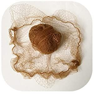 "20"" Lot Of Hair Nets Invisible Elastic Edge Mesh 50cm Reusable Hair Nets (light brwon 10pcs)"
