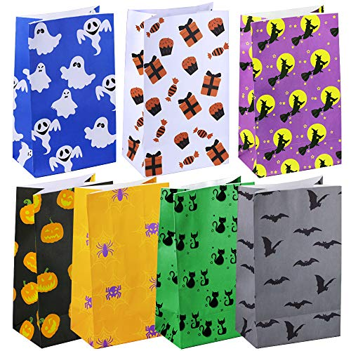 (Winlyn 42 Pcs Halloween Party Paper Trick or Treat Bags Candy Bags Favor Bags Holiday Goodie Bags Sandwich Bags Grocery Bags 5