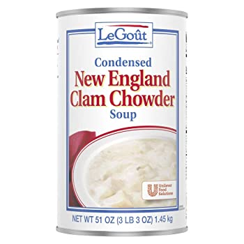 LeGout New England Condensed Canned Clam Chowder