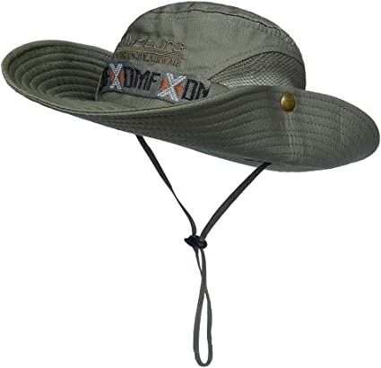 LETHMIK Fishing Sun Boonie Hat Waterproof Summer UV Protection Safari Cap Out...