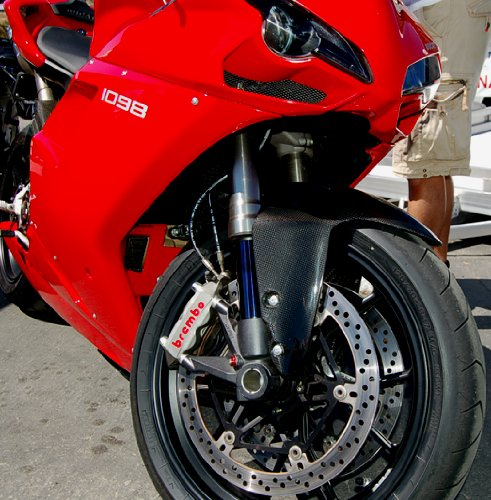 Ducati 848 1098 1198 S R Carbon Fiber Fender Mudguard