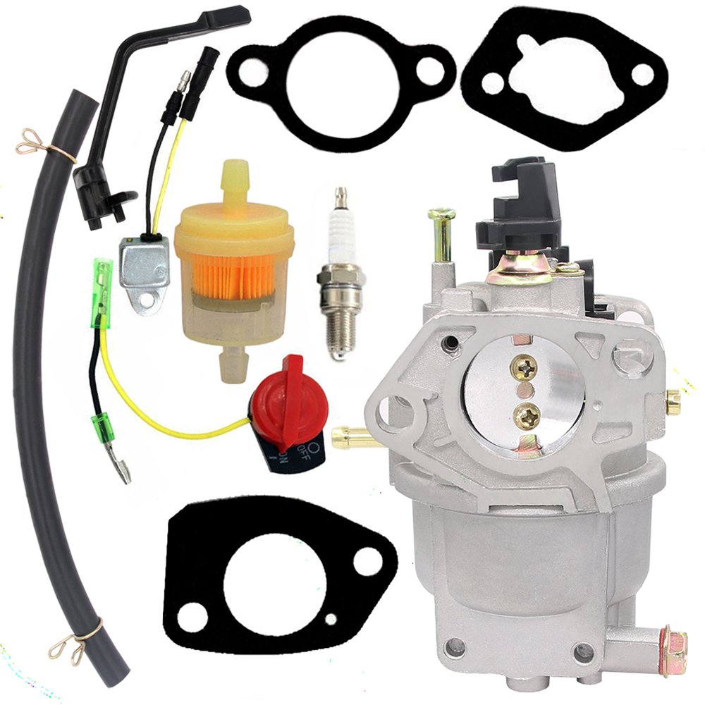 Amazon.com : Carburetor for Generac GP5000 GP5500 GP6500 GP6500E GP7500E  389cc 8125W 0J58620157 Jingke Huayi Kinzo Ruixing 13HP 14HP 15HP 16HP 188F  190F ...