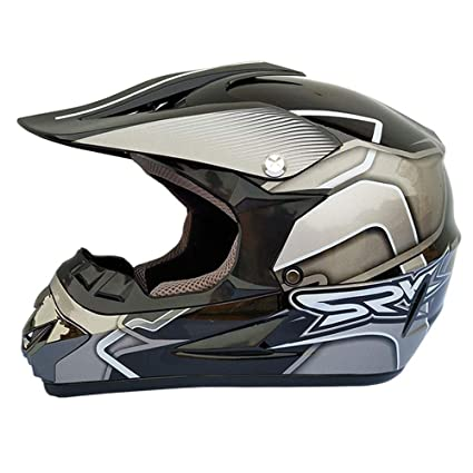 Wansheng Adulto Fuera De Carretera Casco Dot Dirt Bike Motocross ATV Moto Offroad (S,