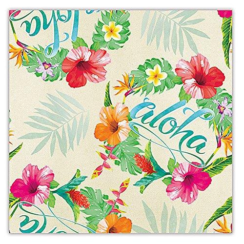 Aloha Paper (Aloha Floral Hawaiian Continuous Gift Wrap Paper 2 Rolls)