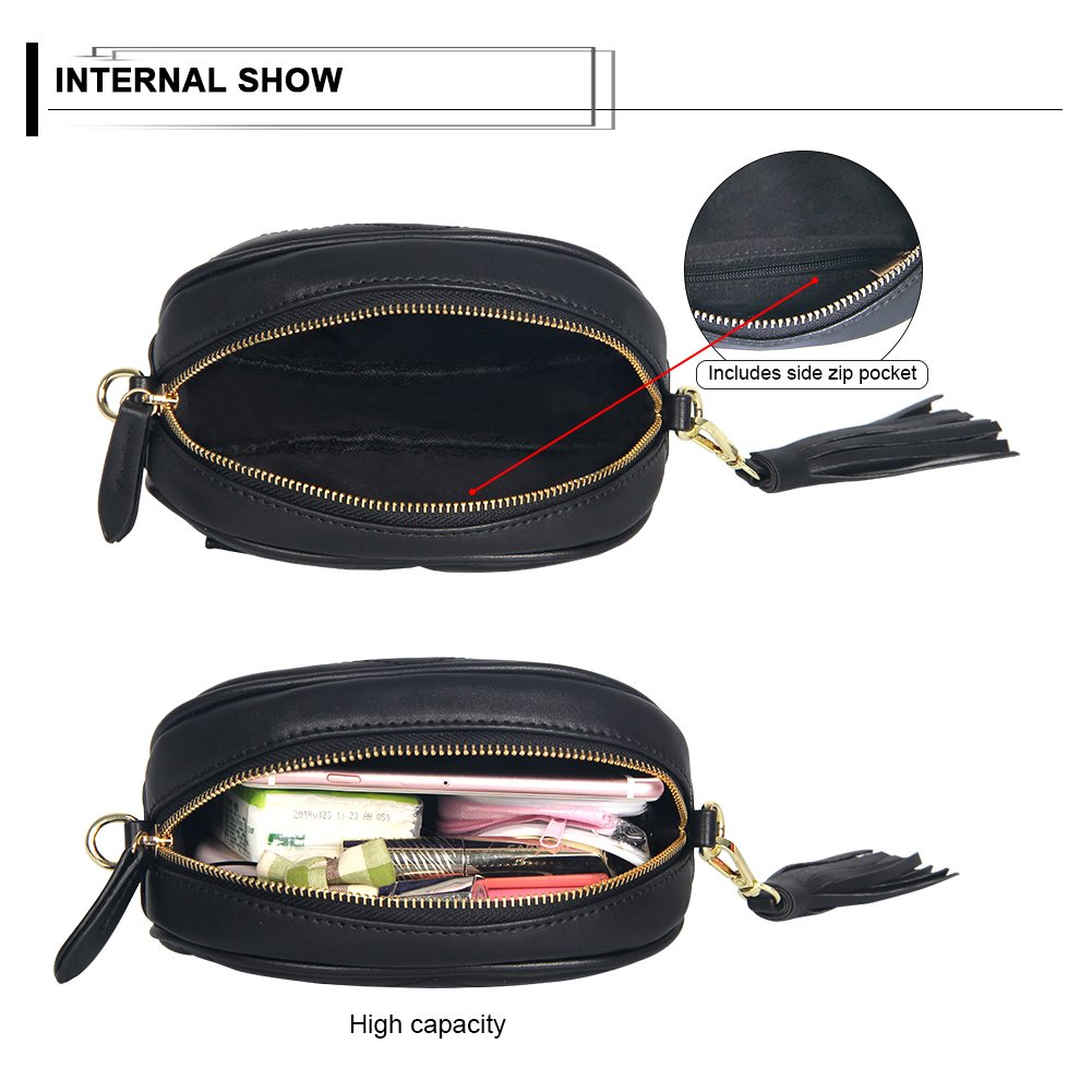 Kukoo Women Leather Waist Belt Bag Elegant Fanny pack Cell Phone Money Pouch by Kukoo (Image #6)
