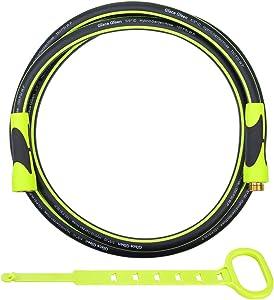 Grace Green Lead in Hose,Hybrid 5/8 in.×10FT Short Garden Hose, Extension Hose, Both End SwivelGrip, Heavy Duty, Light Weight, Flexible