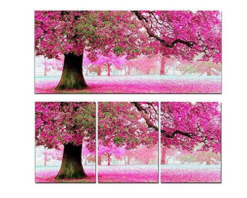Cross Stitch Kit, Sakura Cherry Blossom Trees 54x118cm. DIY Needlework Handmade Embroidery Home Room Decor
