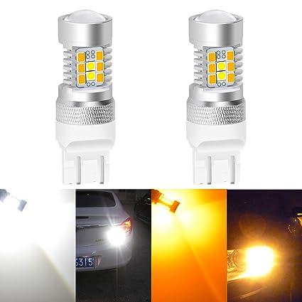 KaTur 3157 3155 3457 3057 4057 Muy Brillante ámbar/Blanco Dual Color Switchback Señal de