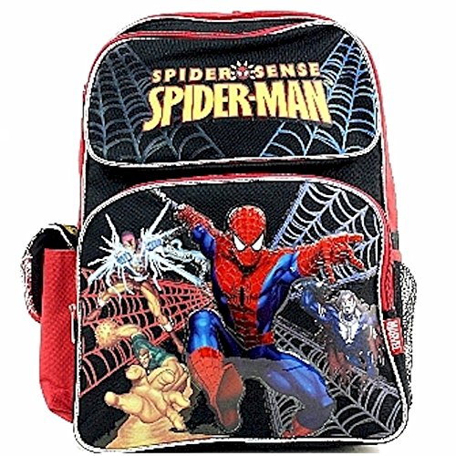 Marvel Spider-Man Boy's Spider Sense Black/Red Backpack School Bag