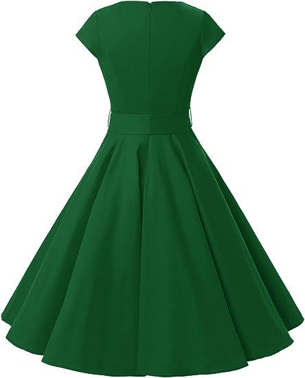 Women Vintage 1950s Retro Rockabilly Prom Dress
