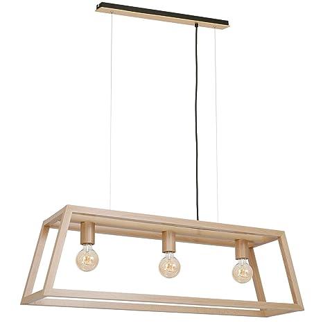 Lámpara de techo de madera estilo escandinavo, 105 cm de ...
