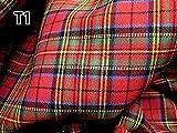 Red Blue Green Plaid Scotch Tartan Cotton Fabric 45' W