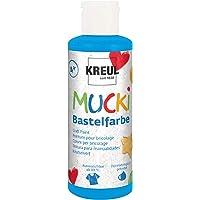 Kreul 24111 Mucki knutselverf voor kinderen, 80 ml in blauw, kinderverf op waterbasis, parabenvrij, glutenvrij…