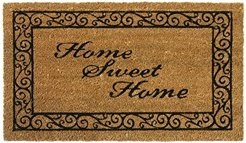 Rubber-Cal Home Sweet Home Welcome Coir Welcome Mat, 18 x 30-Inch