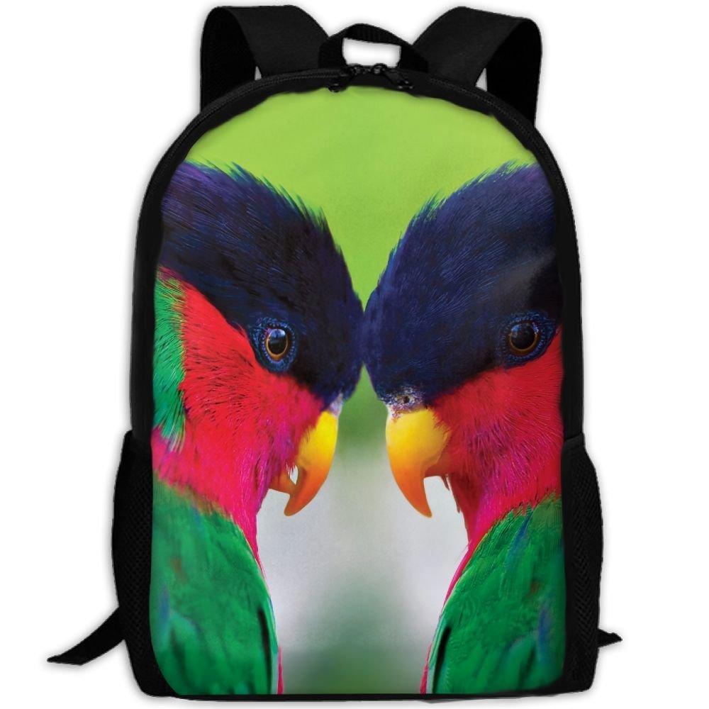 ZQBAAD Beautiful Bird Love Luxury Print Men And Women's Travel Knapsack